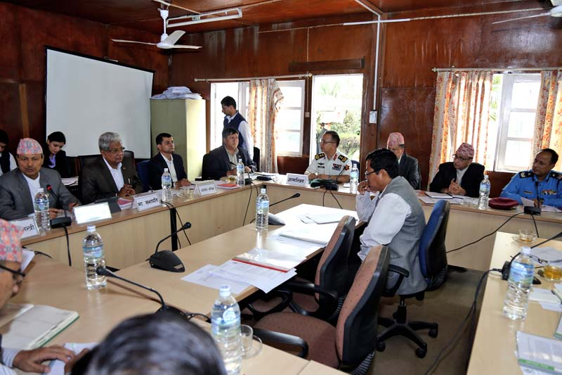 DPM and Minister for Defense Bhim Rawal, Minister for Home Affairs Shakti Basnet among others attend a meeting of the State Affairs Committee of the Parliament, in Singha Durbar, on Monday, July 4, 2016. Photo: RSS