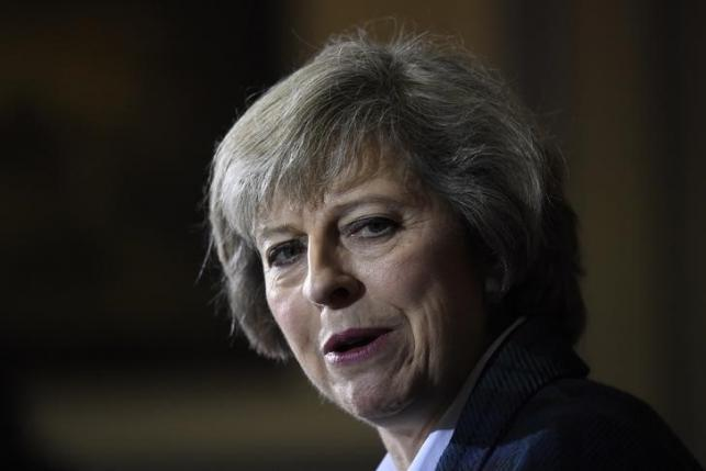 Britain's Home Secretary Theresa May attends a press conference in London, Britain, June 30, 2016.   REUTERS/Dylan Martinez