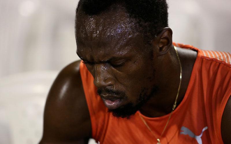 Winner Usain Bolt of Jamaica upset after his quarter final 100m race on June 30, 2016. Photo: Reuters/File