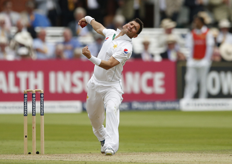 Pakistan's Yasir Shah in action during First Test match against England at Lord's on Friday, July 15, 2016. Photo: Reuters