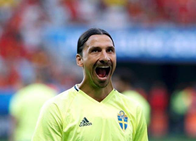 Football Soccer - Sweden v Belgium - EURO 2016 - Group E - Stade de Nice, Nice, France - 22/6/16 - Sweden Zlatan Ibrahimovic before the match.  REUTERS/Yves Herman