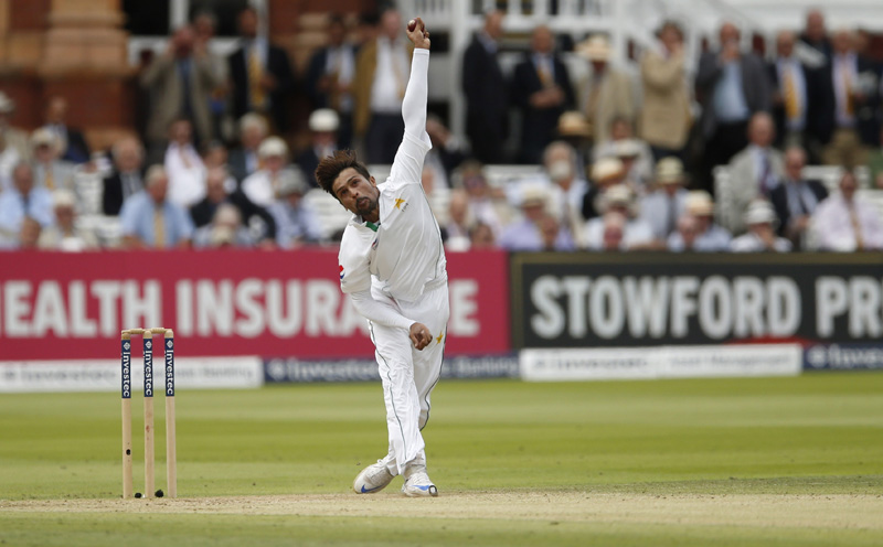 Pakistan's Mohammad Amir in actionn during First Test cricket match against England at Lord's on Friday, July 15, 2016. Photo: Reuters