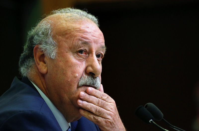 File photo of Spain's head coach Vicente del Bosque. Photo: Reuters