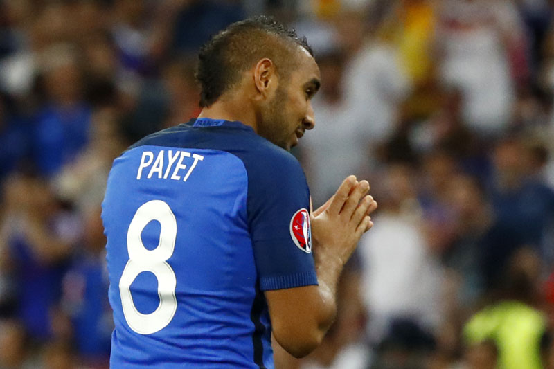 France's Dimitri Payet during their semi final clash against Germany at Stade Velodrome, Marseille on July 7, 2016. Photo: Reuters/File n