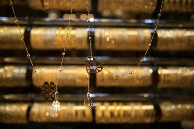 Gold is displayed for sale in Tripoli city, North Lebanon July 23, 2016. REUTERS/Jamal Saidi