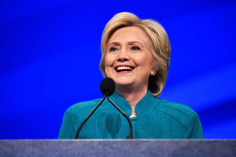 US Democratic Presidential candidate Hillary Clinton speaks at the American Federation of State, County and Municipal Employees convention in Las Vegas, Nevada, US on July 19, 2016. Photo: Reuters