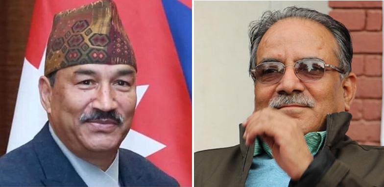 Rastriya Prajatantra Party-Nepal Chairman Kamal Thapa (left) and CPN Maoist Centre Chairman Pushpa Kamal Dahal. Photo: THT/File