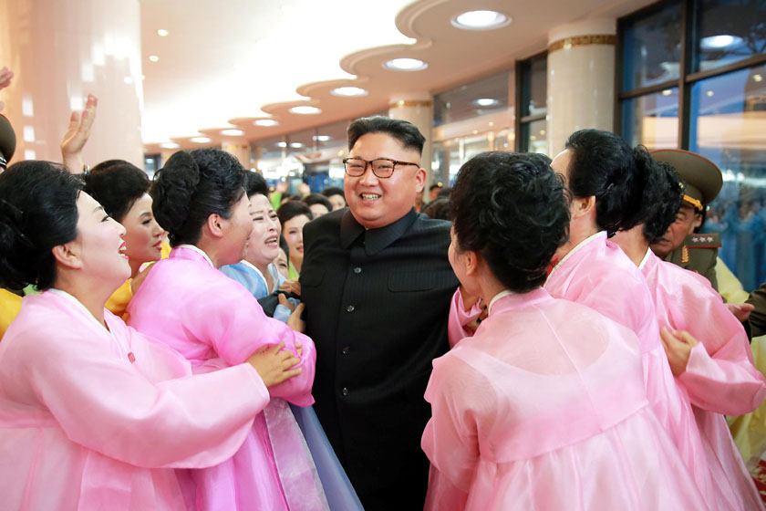 North Korean leader Kim Jong Un is seen attending an art performance staged by the amateur art groups of KPA units in a picture provided on July 16, 2016. Photo: Reuters