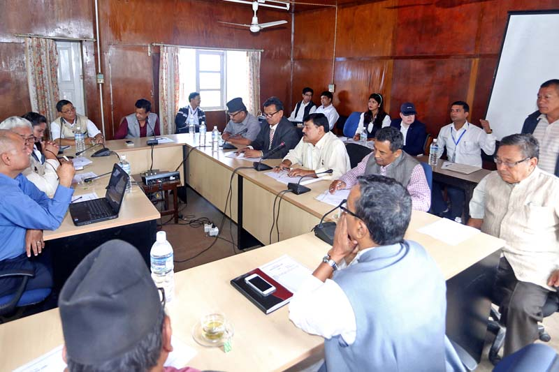 A meeting of the Good Governance and Monitoring Committee under the Parliament, in Kathmandu, on July 10, 2016. Photo: RSS