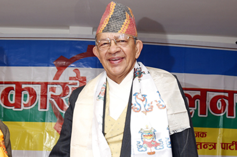 File photo of Rastriya Prajatantra Party Chairman Pashupati Shumsher Rana. Photo: THT