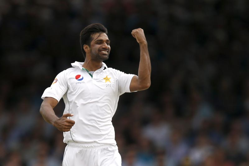 Pakistan's Rahat Ali celebrates the wicket of England's Alex Hales at Lord's on July 17, 2016. Photo: Reuters/File