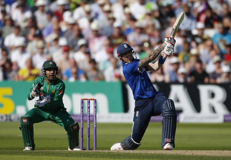 England's Alex Hales in action. Photo: Reuters