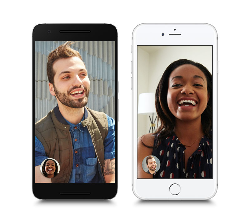 Google's video chatting app on mobile devices. Photo: Google via AP