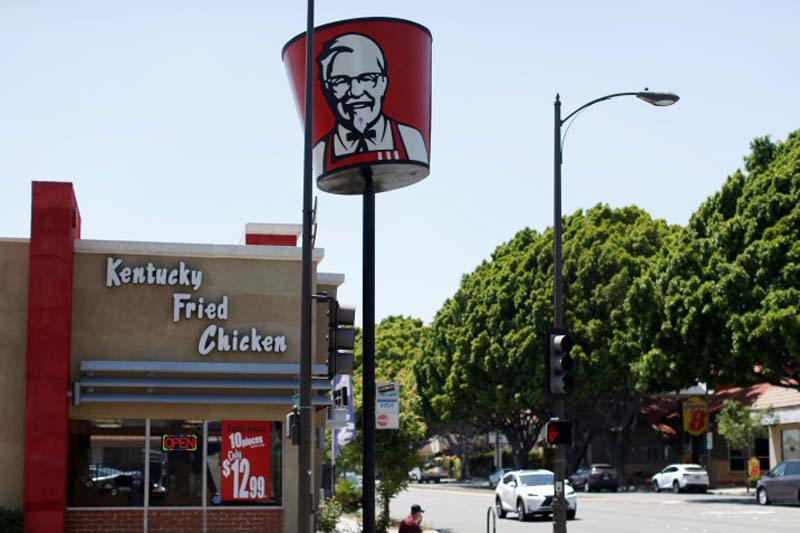 A KFC fast food restaurant, which is owned by Yum Brands Inc, is pictured ahead of their company results in Pasadena, California, US, on July 11, 2016. Photo: Reuters
