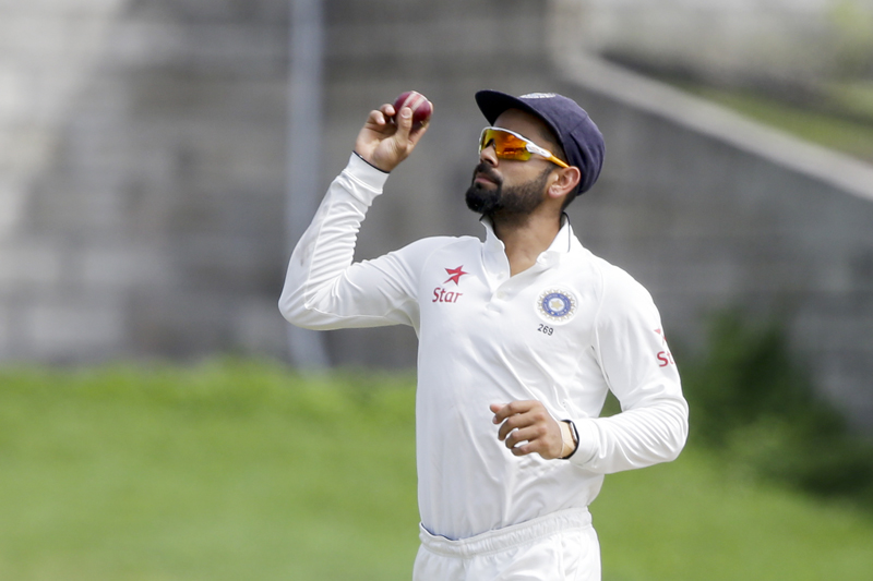 India's captain Virat Kohli fields during day two of the third cricket Test match against West Indies at the Daren Sammy Cricket Ground in Gros Islet, St. Lucia, Wednesday, August 10, 2016. Photo: AP