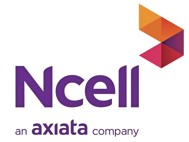 New brand logo of Ncell - an Axiata company.