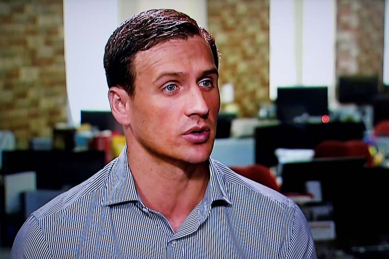 In this screen grab from video Olympic gold medallist swimmer Ryan Lochte of the US gives an interview to Globo TV at their studios in New York City, August 20, 2016. Photo Courtesy Globo TV via Reuters