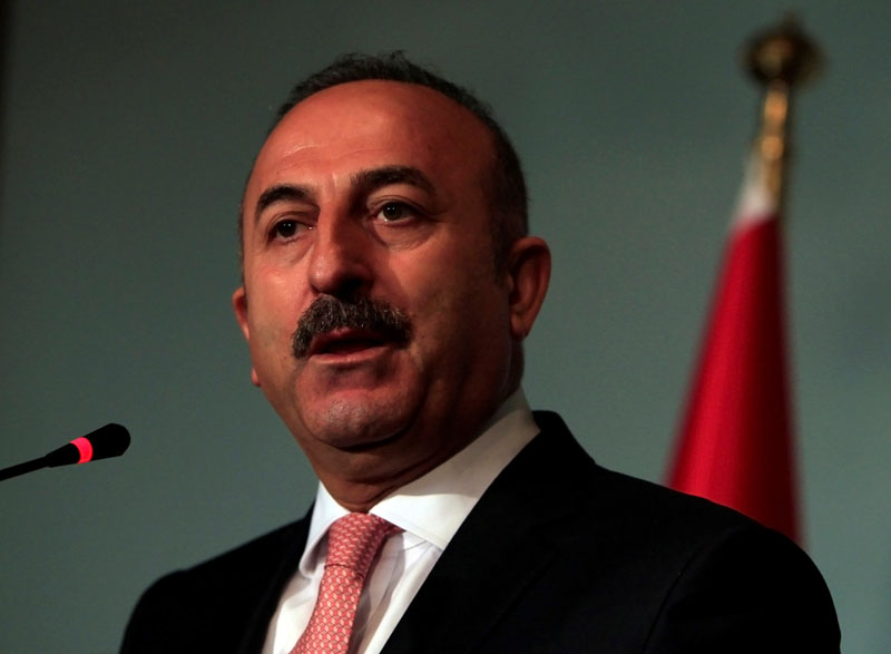Turkish Foreign Minister Mevlut Cavusoglu speaks during a news conference with the Adviser to Pakistan's Prime Minister on National Security and Foreign Affairs, Sartaj Aziz at the Foreign Ministry in Islamabad, Pakistan, August 2, 2016.Photo: REUTERS