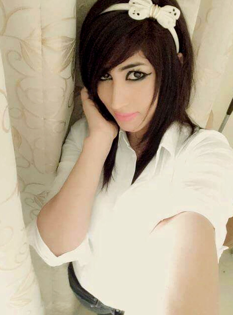 Social media star Qandeel Baloch takes a selfie in this image posted online and released by her family. Photo: AP