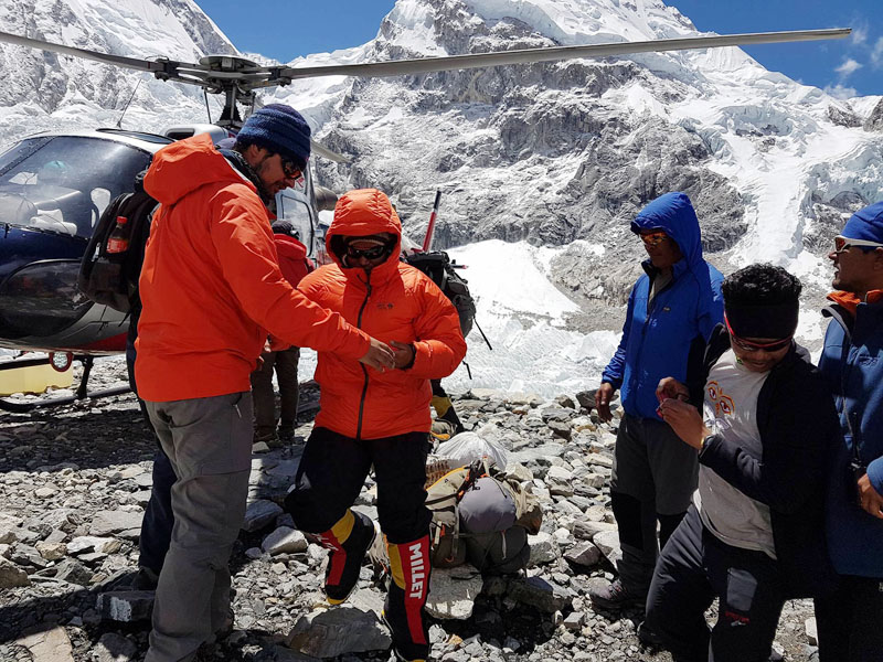 File - Rescued climbers at the Mt Everest Base Camp. Photo: THT