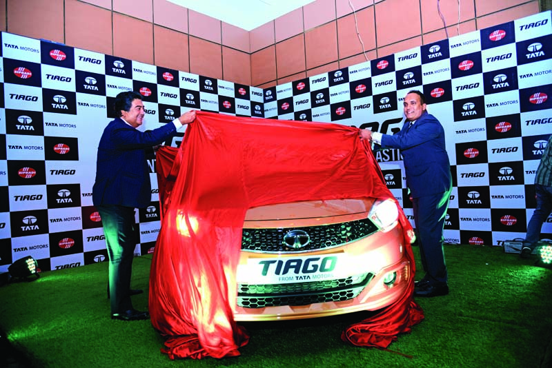 Sipradi Trading Pvt Ltd, authorised distributor of Tata Motors launches their much awaited dynamic hatchback u0097 Tiago, on Sunday, August 28, 2016. Photo: THT