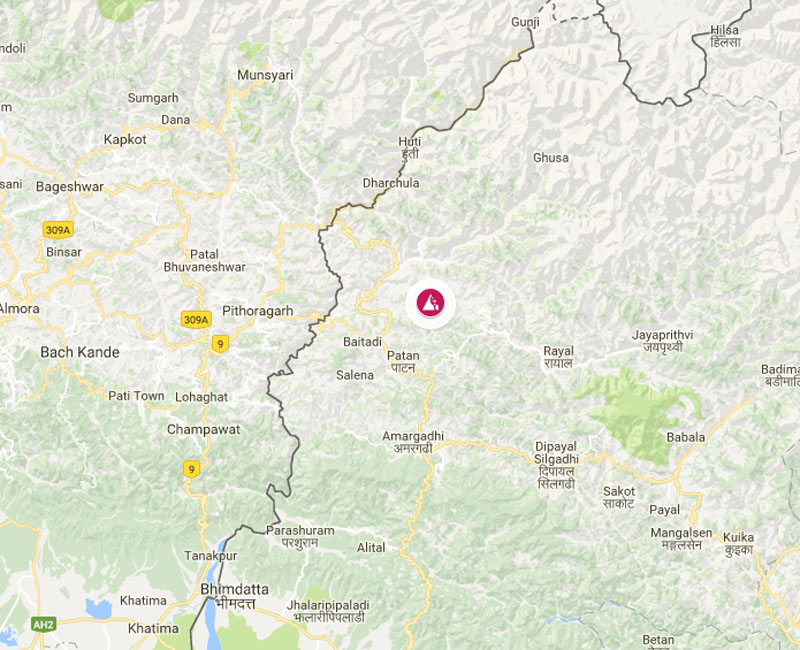 Baitadi families displaced after land caved in.