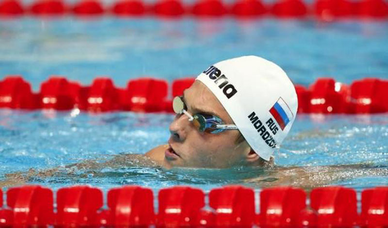Russia's Vladimir Morozov reacts during the men's 100m freestyle semi-final at the Aquatics World Championships in Kazan, Russia, August 5, 2015. Photo: RSS