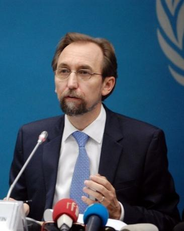 U.N. High Commissioner for Human Rights Zeid Ra'ad Al Hussein addresses a news conference in the Democratic Republic of Congo's capital Kinshasa, July 21, 2016. Picture taken July 21, 2016. REUTERS/Aaron Ross