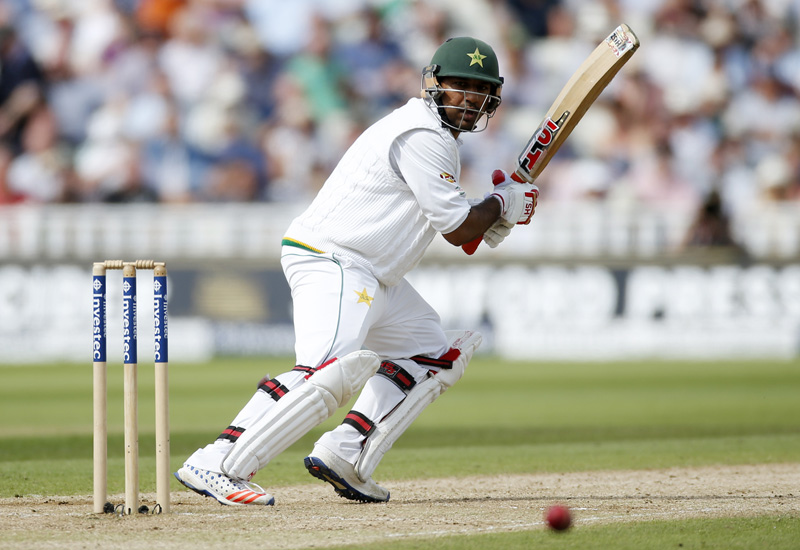Pakistan's Sarfraz Ahmed plays a shot during Third Test cricket match against England, at Edgbaston, on Friday, August 5, 2016n. Photo: Reuters