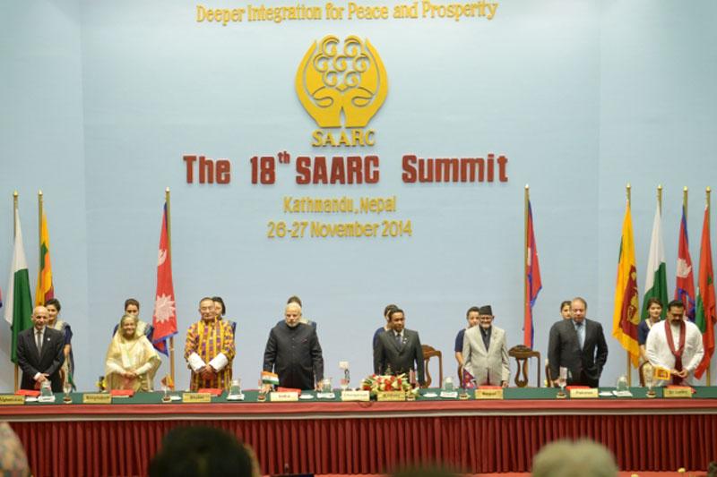 Leaders of eight South Asian nations attend the 18th SAARC Summit in Kathmandu, in November 2014. Photo: SAARC Secretariat