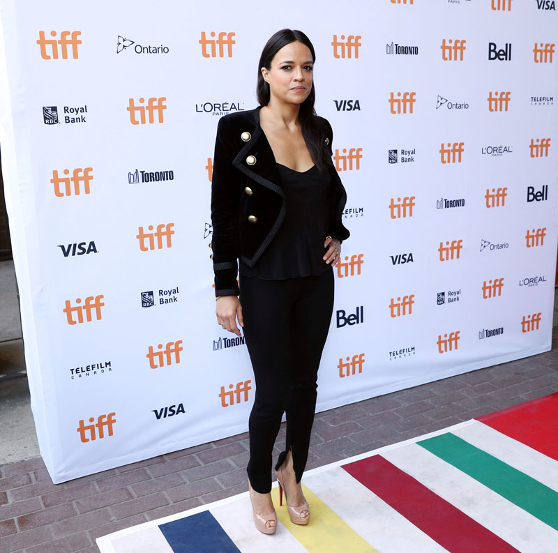 Actress Michelle Rodriguez arrives for the premiere of the film (re) Assignment at TIFF the Toronto International Film Festival in Toronto, on Wednesday, September 14, 2016. Photo: REUTERS