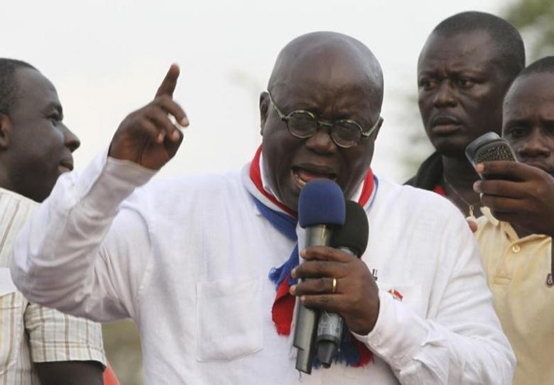 New Patriotic Party (NPP) leader Nana Akufo-Addo speaks during a meeting to contest the presidential election results, at Kwame Nkrumah Circle in Accra, Ghana on December 11, 2012. Photo: Reuters