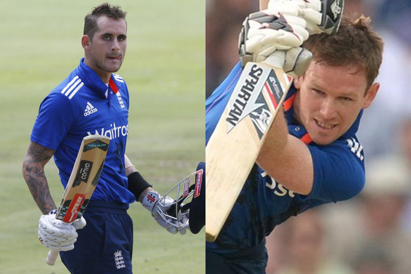 File photo of England batsman Alex Hales (left) and Eoin Morgan. Photos: Reuters
