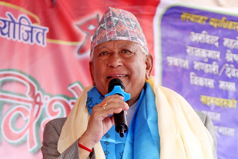 Minister for Urban Development Arjun Narsingh KC speaking at programme in Kathmandu, on Sunday, September 4, 2016. Photo: RSS