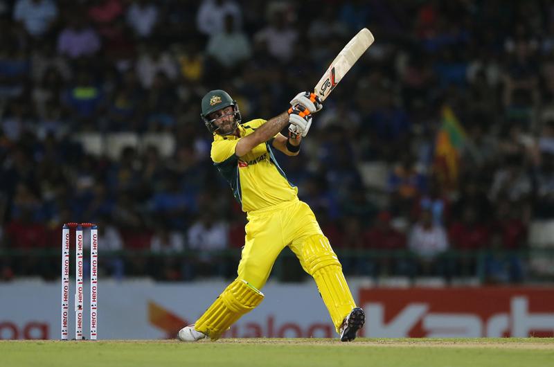 Australia's Glenn Maxwell plays a shot during their first twenty20 cricket match against Sri Lanka in Pallekele, Sri Lanka, Tuesday, Sept. 6, 2016. Photo: AP