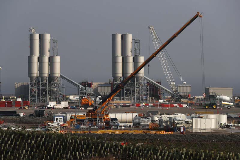 Hinkley Point C nuclear power station site is seen near Bridgwater in Britain, on Wednesday, September 14, 2016. Photo: Reuters