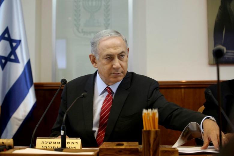 Israeli Prime Minister Benjamin Netanyahu gestures as he opens the weekly cabinet meeting at his Jerusalem office on September 11, 2016. REUTERS/Gali Tibbon/Pool