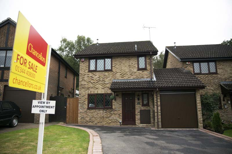 An exterior view shows the house for sale that starred onscreen as Harry Potter's childhood home in the town of Bracknell, England, just over 30 miles (50 kms) west of central London, on Tuesday, September 20, 2016. Photo: AP
