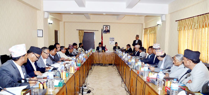 The Council of Ministers led by Prime Minister Pushpa Kamal Dahal holds a meeting at Singha Durbar, Kathmandu on Thursday, September 01, 2016. Photo: PM's Secretariat