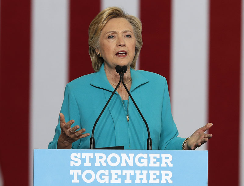 FILE - Democratic presidential candidate Hillary Clinton speaks in Reno, Nevada, on August 25, 2016. Photo: AP