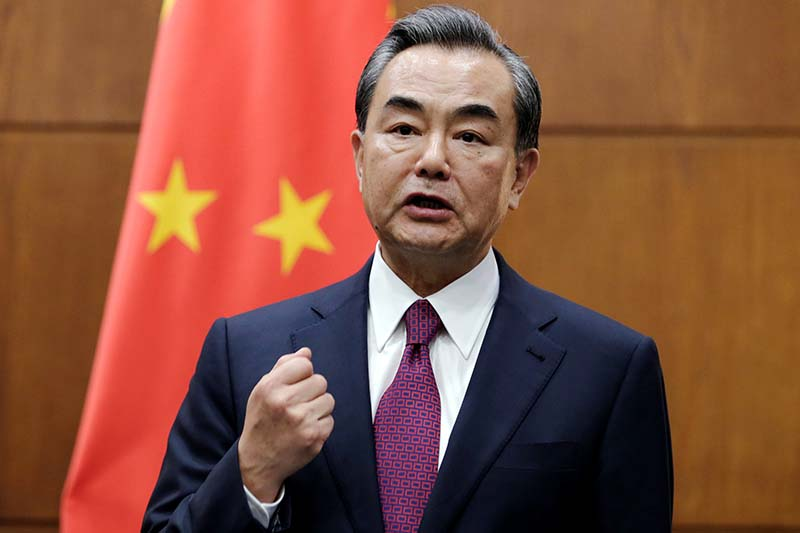 China's Foreign Minister Wang Yi attends a joint news conference with Albania's Foreign Minister Ditmir Bushati (not in picture) at the Ministry of Foreign Affairs, in Beijing, China on August 25, 2016. Photo: Reuters