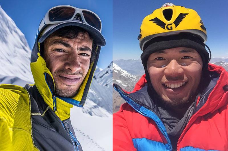 Climbers Kilian Jornet (left) and Nobukazu Kuriki. Photo: Facebook