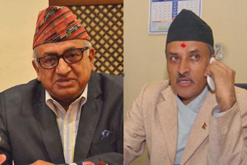 Ambassadors to India and China respectively, Deep Kumar Upadhyay (left) and Leela Mani Paudyal. Photos: THT