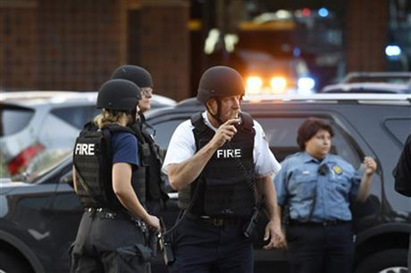 A Denver hospital complex was placed on lockdown on Friday, September 16, 2016, after a report that a man was seen carrying a rifle on the complex grounds. Photo: AP