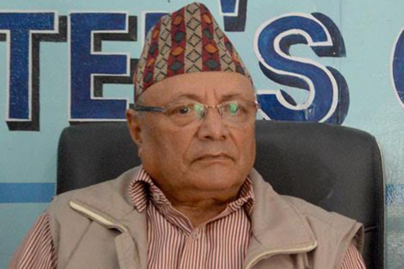 Foreign affairs expert Bhekh Bahadur Thapa in Kathmandu, on Wednesday, September 14, 2016. Photo: Reporters' Club Nepal