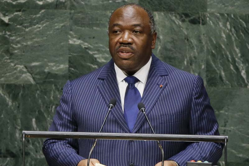 Gabon President Ali Bongo Ondimba addresses the 69th session of the United Nations General Assembly at the United Nations headquarters on Thursday, September 25, 2014. Photo: AP/ File