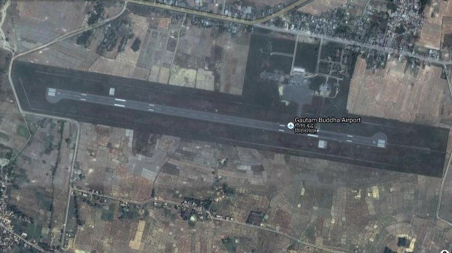 Gautam Buddha Airport in Bhairahawa. Photo: Google satellite image