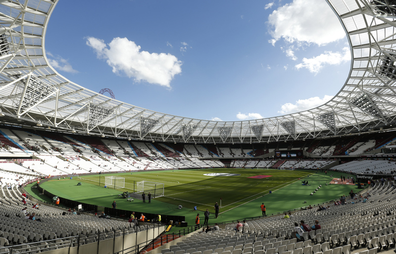 General view of London Stadium before the match between West Ham United vs Southampton as seen on Sunday, September 25, 2016. Photo: Reuters