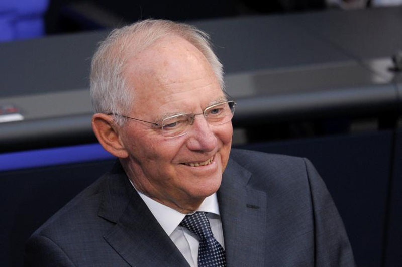 German Finance Minister Wolfgang Schaeuble speaks at a meeting at the lower house of parliament Bundestag on 2017 budget in Berlin,Germany, on September 6, 2016. Photo: Reuters