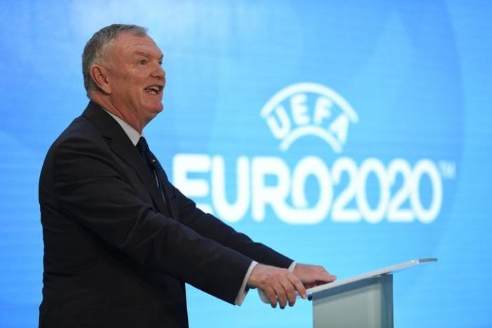 Britain Football Soccer - UEFA EURO 2020 Launch Event - London City Hall - 21/9/16nFA Chairman Greg Clarke during the launchnAction Images via Reuters / Tony O'Brien/ Livepic